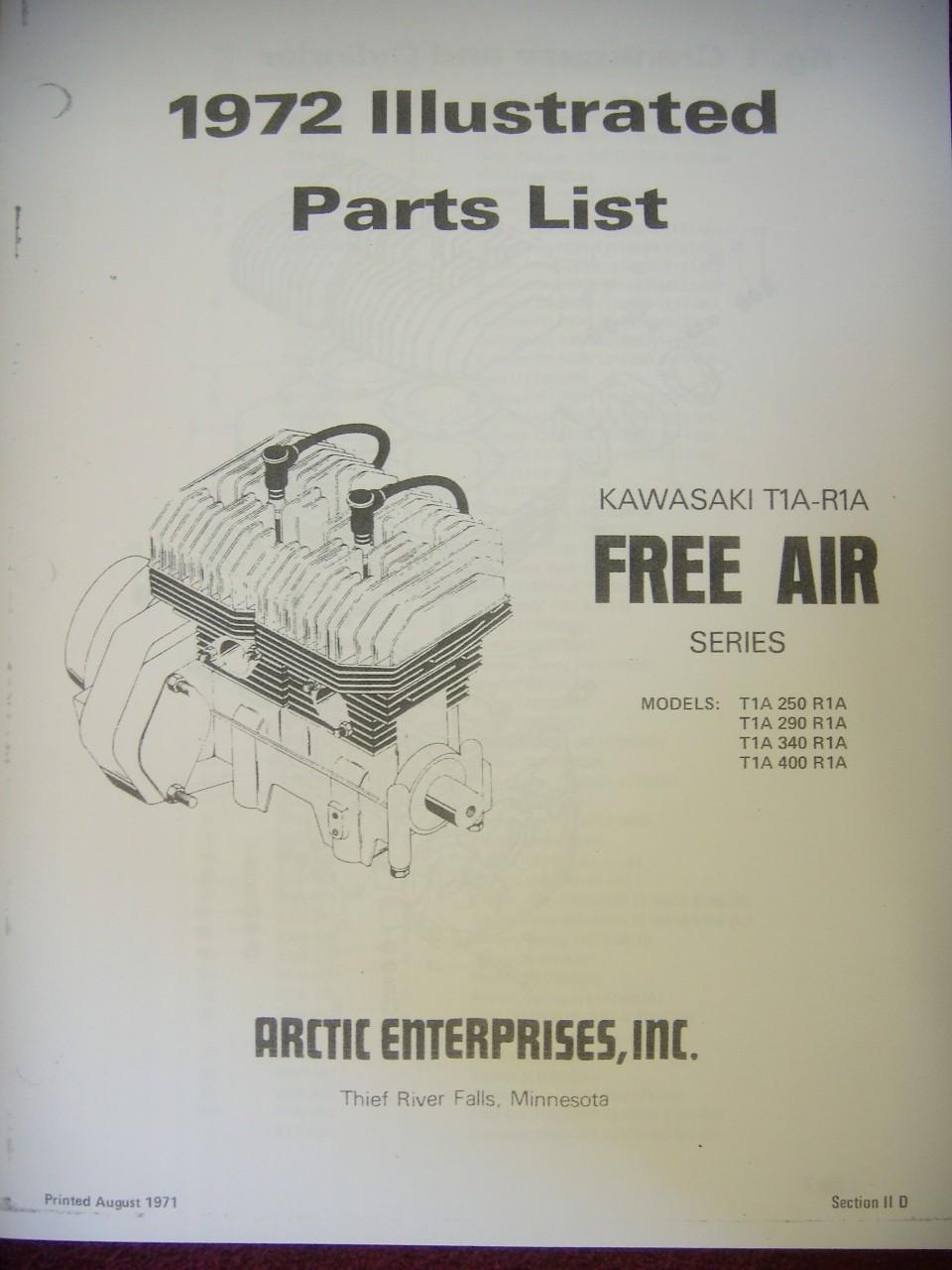 1972 Kawasaki T1AR1A Engine Parts Manual Arctic Restorations – Kawasaki Engine Parts Diagram