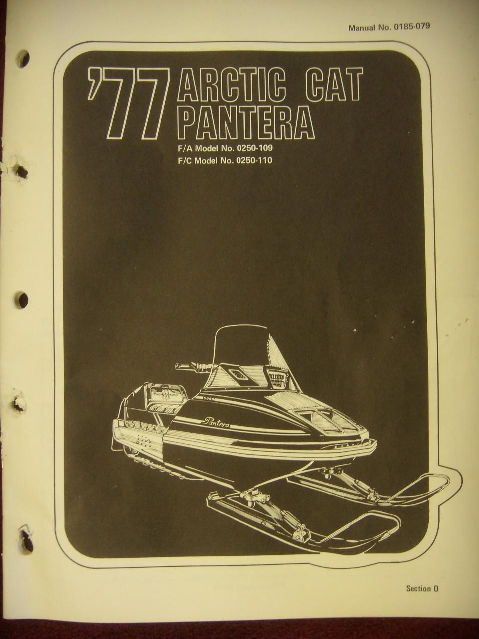 1977 Pantera Parts Manual